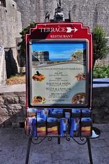 Dubravka Restaurant sign (our favoritie in Dubrovnik) (stevelamb007) Tags: sign restaurant nikon croatia telephoto nikkor oldtown dubrovnik terracerestaurant 18200mm d90 stevelamb dubravkarestaurant