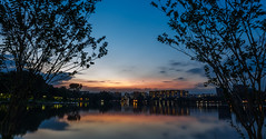 Chinese Garden Lakeside (kenneth gambalan) Tags: park bridge sunset lake green garden temple photography dawn golden nikon singapore asia chinese spot tourist lakeside tokina hour environment kenneth gambalan d5100