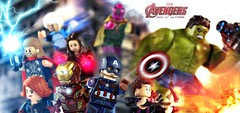 Avengers: Age of Ultron - Upgraded Minifigures Preview #2 (MGF Customs/Reviews) Tags: chris man black scarlett robert america scarlet prime evans iron lego witch mark jr quicksilver vision age captain figure hawkeye hulk custom thor marvel widow avengers 43 johansson downey minifigure ultron