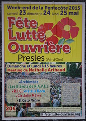 Fte de Lutte ouvrire (emmanuelsaussieraffiches) Tags: poster political politique affiche lutteouvrire