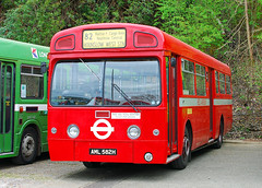 AML 582H. (curly42) Tags: bus transport brooklands londontransport vintagebus busrally aecmerlin londonbusmuseum aml582h mba582 42ndspringgathering