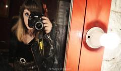 Auto Portrait (Pauline Paultergeist) Tags: auto light portrait self mirror nikon backstage selfie