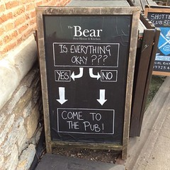 Come to the pub by Diane Mason (Map of the Urban Linguistic Landscape) Tags: uk pub chalkboard stratforduponavon linguisticlandscapes