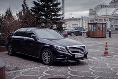Mercedes S500 W222 (Andreychenko) Tags: sky cars canon lens 50mm mercedes benz aperture focus moody dof russia bokeh moscow f14 sony grill fullframe rims depth a7 daimler s500 sklasse bokehlicious w222 mirorless