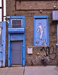 DSC_7088 (rob dunalewicz) Tags: 2015 newyork newyorkcity brooklyn bushwick door graffiti tags ladyaiko aiko doors