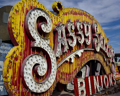 Sassy Sally's Sign at the Neon Sign Museum in Las Vegas (eoscatchlight) Tags: neon lasvegas neonsign retired rustyandcrusty yesteryear casinosign sassysallys calnevari ofdaysgoneby neonsignmuseum