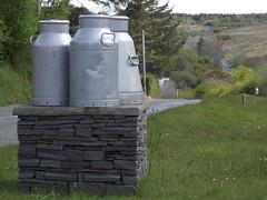 County Clare Ireland - Connolly - Milk Churns / Cans And A Curvy Road (firehouse.ie) Tags: ocean county ireland sea west coast clare atlantic coastline senery scenis