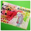 Mailart for a Dutch trade (Stampinkie) Tags: handmade mailart rubberstamping distressink stampotique brusho