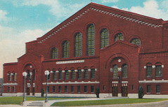 SE Ann Arbor MI c.1920s U of M's Yost Field House  built 1923 University of Michigan Maize & Blue WOLVERINES Athletic Facility Arena now YOST ICE ARENA designed by Smith, Hinchman and Grylls1 (UpNorth Memories - Donald (Don) Harrison) Tags: travel usa heritage history tourism vintage antique michigan postcard memories restaurants hotels trailer roadside upnorth cafes attractions motels cottages cabins campgrounds upnorthmemories rppc wonders michigan memories parks entertainment natural harrison roadside travel don tourist puremichigan stops upnorth