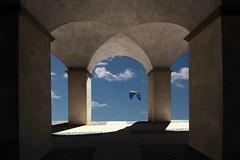 La fortezza (meghimeg) Tags: shadow sky sun clouds nuvole ombra cielo vela sole kitesurf archs archi fortezza 2016 savona priamar