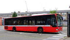 "Go Ahead London General Mercedes Citaro masquerading as ""MBA50"" at Waterloo Garage (Mark Bowerbank) Tags: london ahead mercedes general garage go waterloo citaro masquerading mba50"