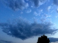 Early evening moom (andystones64) Tags: uk sky moon nature weather clouds evening image dusk lincolnshire cloudscape scunthorpe iphone the imagecapture imageof nlincs iphoneography iphone6
