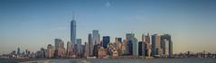 Skyline (Augmented Reality Images (Getty Contributor)) Tags: city nyc newyorkcity panorama usa ferry america canon buildings river stitch manhattan bridges statenisland urbanjungle