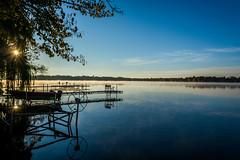 Sunrise on the Lake || Fall '14 (manaelm1) Tags: morning autumn mist fall nature sunrise nikon earlymorning peaceful