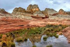 Breakthrough at White Pocket (Chief Bwana) Tags: arizona reflection rain puddle az navajosandstone pariaplateau whitepocket psa104 chiefbwana