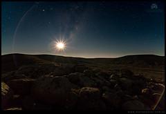 Luna naciente en la estepa