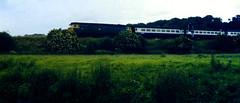Slide 061-03 (Steve Guess) Tags: uk blue england train river leicestershire rail railway gb british loughborough soar kegworth class47