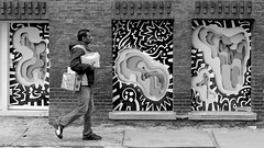 The Mailman... (Akbar Simonse) Tags: street people bw streetart man holland blancoynegro netherlands monochrome graffiti rotterdam zwartwit candid nederland streetphotography bn mailman postman straat postbode straatfotografie dscn2214 mrjune akbarsimonse