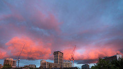 Croydon sunset, cranes! (David J Pearson) Tags: sunset cranes croydon