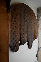 Blitzed Chapel Door (HoosierSands) Tags: london chapel blitz islington charterhouse