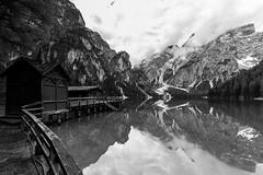 To much cloudy at the lake (++sepp++) Tags: italien bw lake reflection landscape blackwhite cloudy it sw monochrom landschaft spiegelung dolomites dolomiti braies sdtirol altoadige pragserwildsee wolkig dolomiten pustertal prags einfarbig schwarzweis trentinoaltoadige
