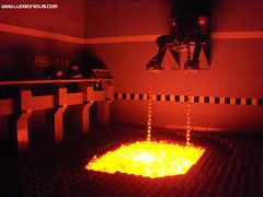 Mining the Lava (Ludgonious) Tags: fire lava liu lego bricks mining blacklight scifi atlas build effect doog nidavellir