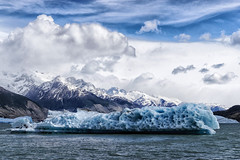 Cruising on Lake Argentino (marko.erman) Tags: world park blue sky patagonia sun lake cold heritage ice nature water argentina beautiful beauty clouds montagne landscape site sony peaceful sunny unesco worldheritagesite national stunning glaciers serene iceberg paysage extrieur pristine glaciares losglaciaresnationalpark