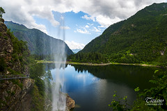 the waterfrall (Tiziano Photography) Tags: sky italy lake mountains clouds landscape lago waterfall nikon nuvole piemonte cielo d750 montagna antrona cascata nikond750