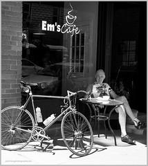Bob at Coldwater2 (tesseract33) Tags: world travel light people blackandwhite ontario art monochrome cycling nikon bikes cafes roadriding coldwater tesseract33 squamishphotographers peterlangphotographynet