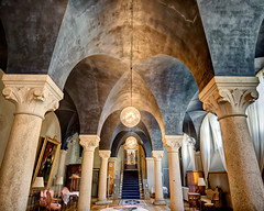 The Hall of Pillars (claustral) Tags: old lund university sweden wide pillars hdr lu photomatix universitetshuset pelarsalen