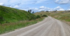 Bean Lake Road.  Montana (montanatom1950) Tags: scenic scenery backroads dirtroads motorcycletouring montana vstrom dl650