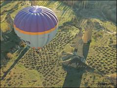 Balloon Over Greme (Lyndon (NZ)) Tags: travel turkey landscape fuji turkiye transport balloon flight gimp cappadocia goreme 2015 xs1 fujifilmxs1