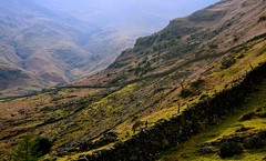 Way down (plot19) Tags: uk light england mountains west english wall landscape photography nikon northwest britain north lakedistrict cumbria british now northern bowfell plot19
