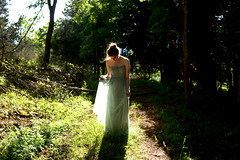 tulle and light (kate.burkholder) Tags: lighting light mountains beautiful woods dress prom mysterious