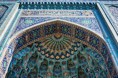 Mosaic Decoration of Entrance to Mosque in St Petersburg Russia (Artur Pilipchuck) Tags: world door old travel roof color detail tower history church beauty saint stone architecture ceramic outdoors photography worship asia pattern arch place russia mosaic minaret muslim islam traditional famous faith religion decoration entrance culture belief petersburg nobody landmark palace mosque architectural east national dome marble spirituality majestic built feature ethnicity