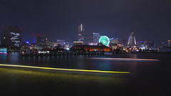 Yacht Light Trails in Yokohama (DigiPub) Tags: 577834830 gettyimages onsale annualevent artscultureandentertainment bayofwater blue blurredmotion business businessfinanceandindustry celebrities colorimage event famousplace ferriswheel harbor hobbies horizon horizontal hotel humaninterest illuminated japan kanagawaprefecture led lighttrail longexposure minatomirai modern movingactivity nauticalvessel nopeople pacificocean parade passengercraft passengership photography reflection sailboat sailing sea ship traveldestinations watersurface yacht yamashitapark yellow yokohama yokohamalandmarktower