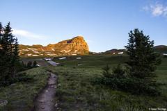 Uncompahgre Alpenglow (isaac.borrego) Tags: morning sky mountains sunrise colorado trail alpine rockymountains tundra alpenglow sanjuanmountains uncompahgrepeak uploadedviaflickrqcom canonrebelt4i