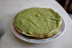 DSCF3370 (Jolene Jiang) Tags: summer ny cake dessert baking homemade crepe sweets fujifilm matcha greentea amateur creampuff millecrepe x100s