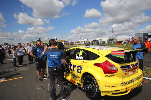 Alex Martin's car during the Grid Walks at the BTCC 2016 Weekend at Snetterton