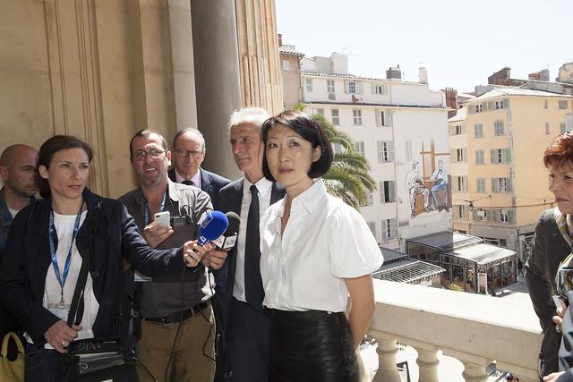 Visite de Fleur Pellerin à Toulon