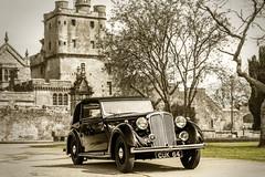 Rover 16 Cabriolet (1939) (TrotterFechan) Tags: car vintage rover 64 16 cabriolet cuk hoddomcastle ecclefechan cuk64