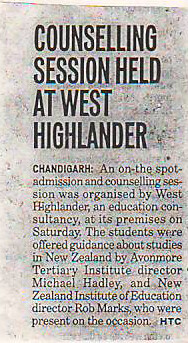 Counselling Sassion Held At West Highlander For Study In New Zealand