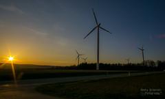 Wind Turbine (Da_Hmc) Tags: park sunset windmill field wind sony f22 f2 12mm alpha turbine 6000 a6000 walimexpro f212mm