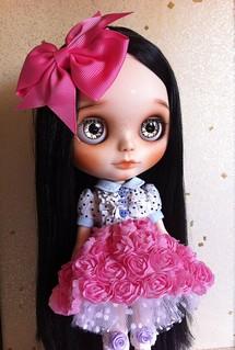 Hazel my new custom Blythe