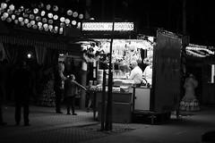 ONE BY ONE Feria de Abril Gateway Flota de Indias Av 00-01h JACOBO CANADY 17 (24 hours of Seville Street Life) Tags: blackandwhite bw byn blancoynegro real sevilla feria fair seville bn portada noria flamenca atracciones obo gitana lunares procesin caseta feriadeabril streetphotograpy cacharritos recintoferial faralaes onebyone rebujito calledelinfierno paseoacaballo fotografacallejera capitalhispalense jacobocanady