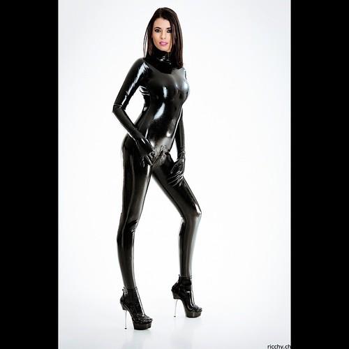 Latex girl model