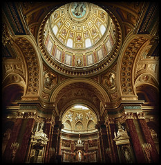 Golden Arches (MD Travel Photography) Tags: church saint st religious hungary cathedral basilica budapest arches ceiling altar dome inside stephens fresco
