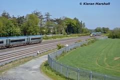 22049 and 22021 at Stacumny Bridge, 23/5/15 (hurricanemk1c) Tags: irish train rail railway trains railways irishrail rok rotem 2015 hazelhatch icr iarnród 22000 éireann iarnródéireann 4pce stacummybridge hazelhatchandcelbridge 1110galwayheuston