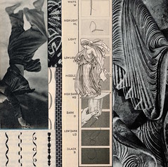 value scale (kurberry) Tags: monochrome collage blackwhite swirl cutpaste drapery vintageephemera valuescale