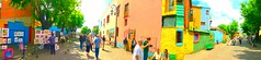 HBM! Early morning in colourful La Boca (peggyhr) Tags: blue people panorama orange green art argentina yellow bench buenosaires candid streetphotography laboca colourful hbm thegalaxy peggyhr thegalaxyhalloffame